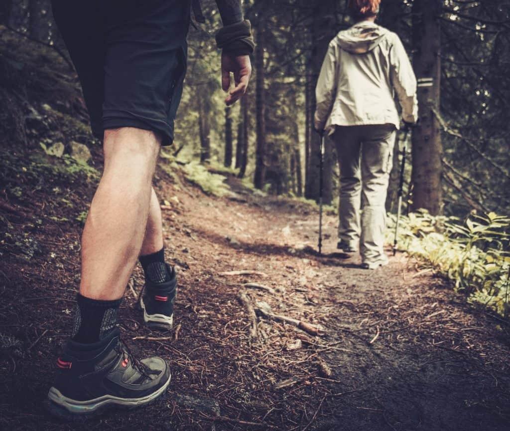 Man in Hiking shorts