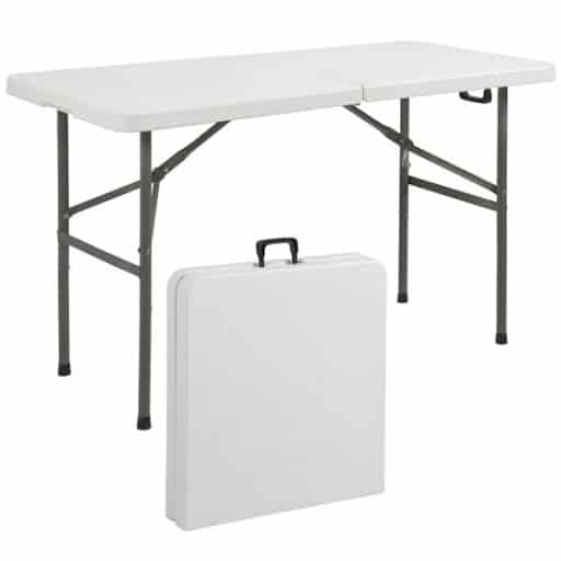 Best Choice Products Indoor Outdoor Portable Folding Plastic Dining Table w: Handle