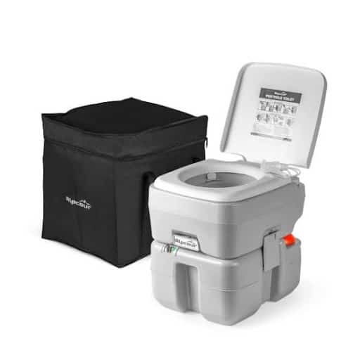 Alpcour Portable Toilet Compact Indoor & Outdoor Commode w:Travel Bag for Camping